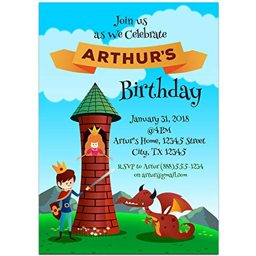 Fairy Tales Tangled Birthday Party Invitations -