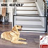 43.3'x28.3'Magic Dog Gate Pet Gate,Portable Folding Pet Safety Gate,Baby Safety Fence for House Indoor Stair/Doorway Use