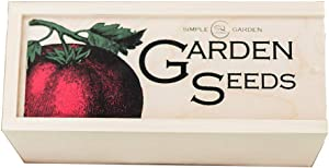 Seed Storage Container and Organizer Box for Your Garden Seed Packets - Tall Size -11.75 L 5.1 Wide 6.5 H - Expertly Crafted in The U.S.A. with Vintage Heirloom Style Divider Cards to Organize Seeds