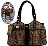 Mirage Pet Products Bone Ami Airline Pet Carrier Plaid Monkey, One Size