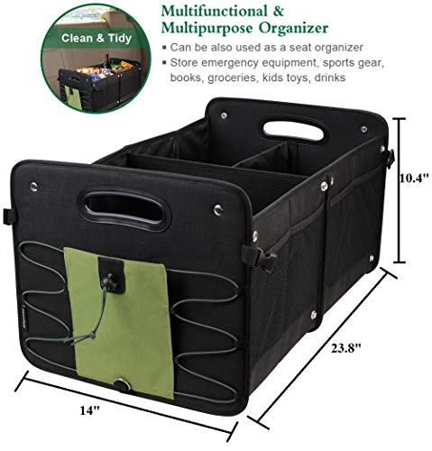 853d5b42815c INNO STAGE Collapsible Car Trunk Organizer with Removable Divider, Durable  Sedan Cargo Storage Carrier with 1-3 Compartments and Non Slip Straps to ...