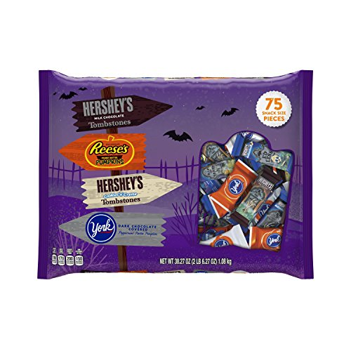 HERSHEY'S Halloween Snack Size Assortment (38.27-Ounce Bag, 75 - Snacks Halloween Themed