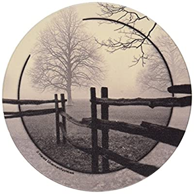Set of Four Fence in the Mist Occasion Coasters - Style EHS2