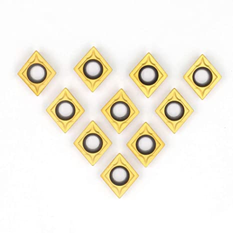 TYUIOP 10Pcs//Set Carbide Inserts CCMT09T304 VP15TF Blades Practical Cutters for CNC Lathe Turning Tool Boring Bar