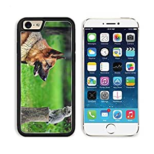 Dog Cat Grass German Shepherd Apple iPhone 6 TPU Snap Cover Premium Aluminium Design Back Plate Case Customized Made to Order Support Ready Liil iPhone_6 Professional Case Touch Accessories Graphic Covers Designed Model Sleeve HD Template Wallpaper Photo wangjiang maoyi