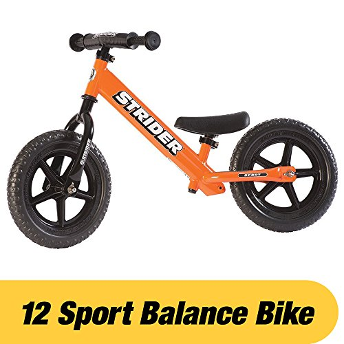 Strider – 12 Sport Balance Bike, Ages 18 Months to 5 Years, Orange