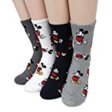 Mickey Icon Crew Socks(Mickey 4pairs) with Intype Pouch