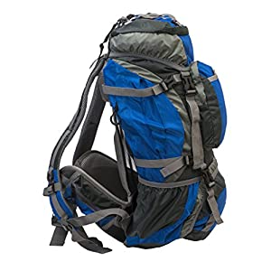 American Outback Zion Internal Frame Hiking Backpack, Blue, 40 L