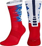 {SX7273-657} UNISEX NIKE ELITE CREW-1.5 4TH OF JULY RED/WHITE/MIDNIGHT NAVY (LARGE)