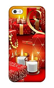 Aarooyner Design High Quality Red Fancy Presents Vector Design Bedecked Xmas Santa Claus Holiday Christmas Cover Case With Excellent Style For Iphone 5/5s