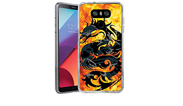 Slim Flexible Gel Case Bump and Drop Protection Skull on Fire G6 Flexible Case |H870 Flexible Case Untouchble Case for LG G6 Flex Max