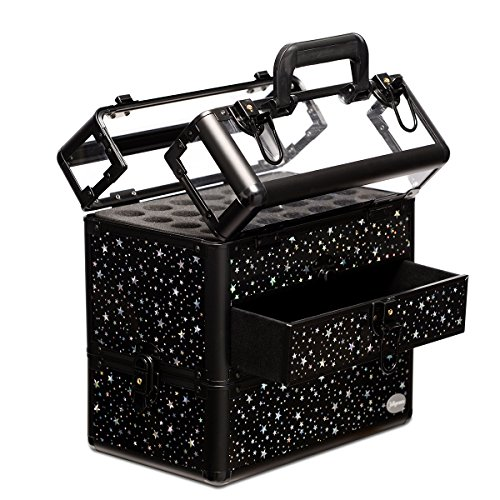 Makeup Train Case Professional Nail Box Portable Accessory Storage with Polish Slots by ()