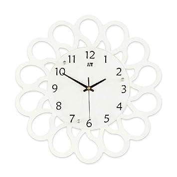 Relojes de pared Sala de Estar Arte Reloj de Cuarzo Creativo Dormitorio Reloj Moderno Minimalista Ambiente de hogar Personalizado Moda silencioso: ...
