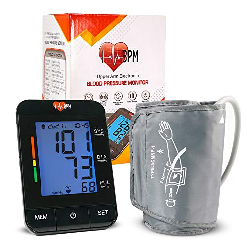(IHeartBPM Blood Pressure Monitor - Automatic BP Monitor with Blood Pressure Cuff & Heart Rate Monitor for Ages 12 and Up - Accurate Digital Blood Pressure Monitor Tracks 2 Users & Records for 90 Days)
