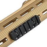 Green Blob Outdoors KEYMOD & M-LOK Rail Section for handguards, 6 Slots Dual Interface KEYMOD & M-LOK Rail Section 64.8mm Long