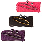 ZIPIT Grillz Pencil Case, 3-Pack (Pink, Purple, Black)