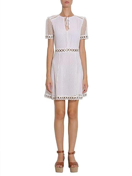 Michael By Michael Kors Vestito Donna MS88XSA8RU100 Poliestere Bianco   Amazon.it  Abbigliamento 366dcb91cbe
