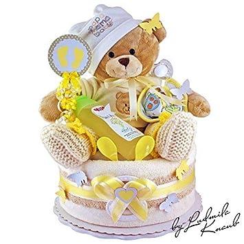 3630888a89eb Gâteau de couches Pampers gâteau   bébé cadeau pour fille et garçon dans un  beau