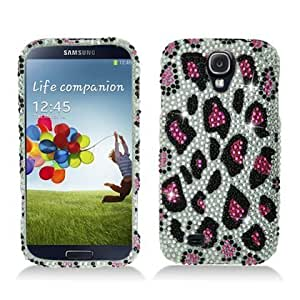 Bloutina Aimo SAMSIVPCLDI671 Dazzling Diamond Bling Case for Samsung Galaxy S4 - Retail Packaging - Leopard Pink