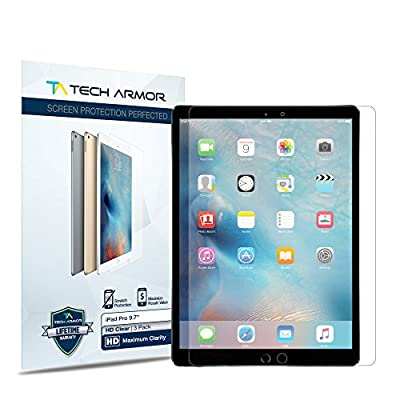 "iPad Pro (9.7"") Screen Protector, Tech Armor High Definition HD-Clear Apple iPad Pro 9.7-inch Film Screen Protector [2-Pack] from Tech Armor"