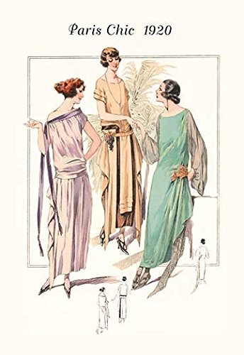 Page from a 1920s fashion catalog from France with the lastest in womens attire Poster Print by unknown (18 x 24) ()