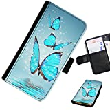 Hairyworm - Butterflies LG G3 (D855, D850, D851) leather side flip wallet cell phone case, cover