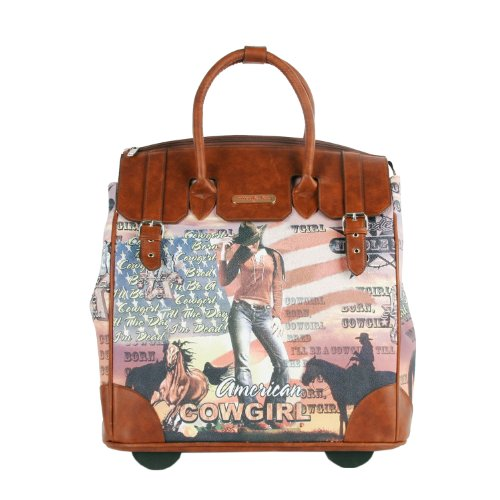 nicole-lee-fiona-rolling-business-tote-cowgirl-flag-one-size