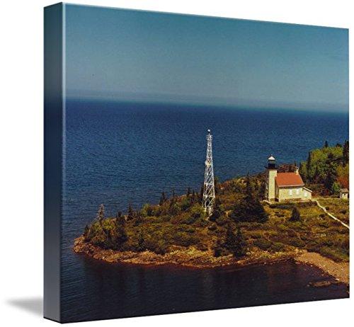 Copper Harbor Lighthouse (Wall Art Print entitled Copper Harbor Lighthouse by Alleycatshirts @Zazzle | 30 x 24)