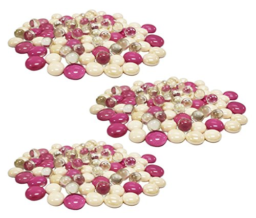 Fish Scrapbooking (Set of 36 Ounces of Exotic Aquarium and Vase Gems and Shells! Around 2 Pounds of Gems Perfect For Aquariums, Vase Fillers, Table Scatter, Scrapbooking and Much More! (Pink Candy Gems, 2 Pounds))