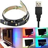 LED Strip 30CM Light 3528 Waterproof With USB Port Cable Super Bright DC 5V ( Pure white )