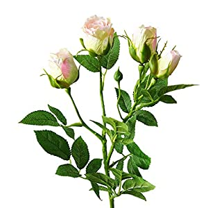 zzJiaCzs Artificial Rose Flower,1Pc Faux Flower Rose Garden DIY for Stage Party Wedding Holiday Craft Decor - Light Pink 39