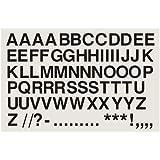Lot de 63 autocollants en vinyle en forme de lettre 7,52 cm noir