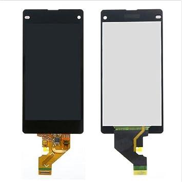 Sony Xperia Display im Komplettset LCD Ersatz Für Touchscreen Glas Reparatur (Sony Xperia Z1 Compact D5503, Schwarz)