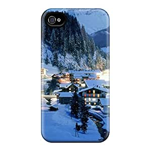 Hot Snap-on Beautiful Alpine Village At Night Hard Covers Cases/ Protective Cases For Iphone 6