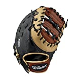 Wilson Sporting Goods 2019 A2K 1617 First Base Baseball Mitt - Left Hand Throw Black/Copper/Black SuperSkin, 12.5""