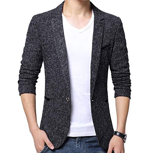 Manteaux Veste Un Fit Elegant Casual De Noir Costume Blazer Bouton Blousons Homme Slim Hqfzwg1g