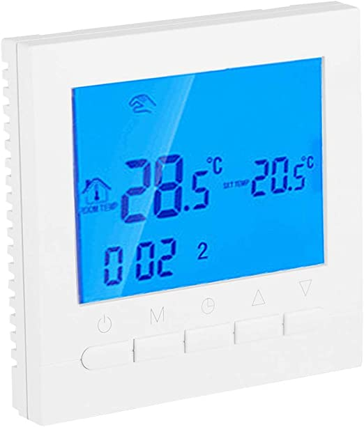 Programmable WiFi Wireless Heating Home Thermostat Large Digital LCD Screen App Control (110V)