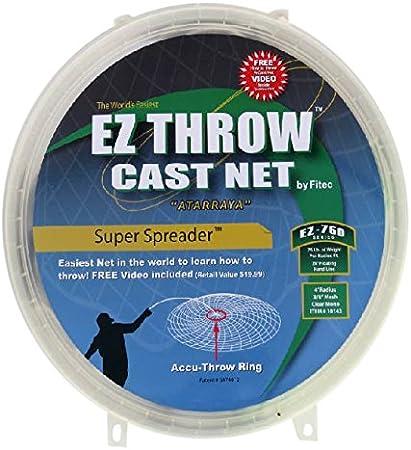3//8 Sq. Mesh 5 ft Mono Super Spreader Cast Net 10150 Cast Net