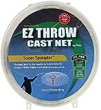 """Fitec EZThrow 750 Super Spreader Cast Net Clear 6' Radius, 3/8"""" mesh, 3/4 Lb WTS"""