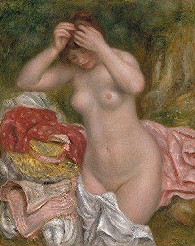 "Pierre-Auguste Renoir : ""Bather Arranging Her Hair"" (1893) - Giclee Fine Art Print"