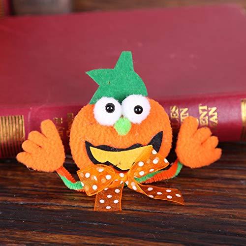 YJYdada Pumpkin Ghost Bat Luminous Light up Halloween Badge