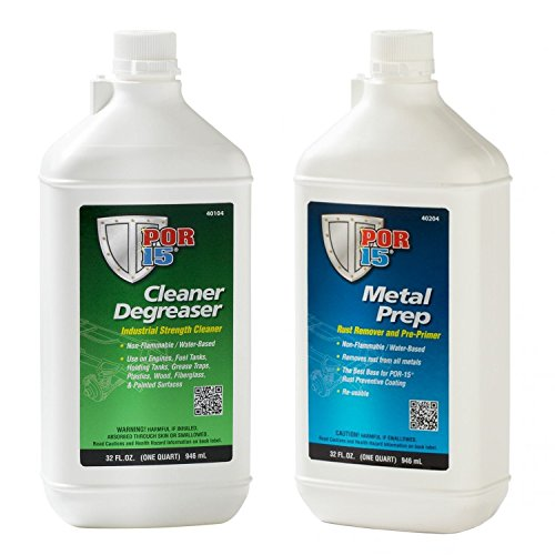 POR-15 Quart Cleaning Kit with Marine Clean Degreaser & Metal Ready Surface Prep Solution ()