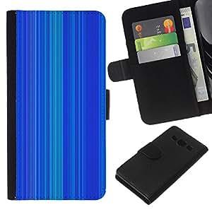 KLONGSHOP // Tirón de la caja Cartera de cuero con ranuras para tarjetas - Patrón de la raya líneas verticales - Samsung Galaxy A3 //