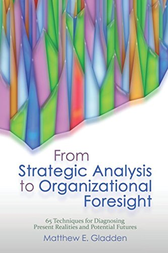 From Strategic Analysis To Organizational Foresight  65 Techniques For Diagnosing  Present Realities And Potential Futures