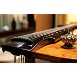 Concert Grade Aged Chinese Fir Wood Guqin, 7-string Zither (Fuxi)