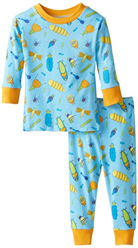 New Jammies Baby Boys' Organic Cotton Pajama Set Bug's Life, Blue, 24 Months