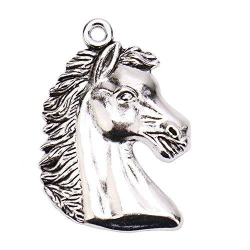 JETEHO 20 Pieces Horse Pendant Charms Animal Hourse Head Charms for Jewelry Pendant Necklace Making ()