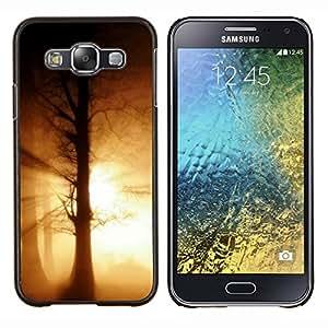 KLONGSHOP // Cubierta de piel con cierre a presión Shell trasero duro de goma Protección Caso - Sunset Beautiful Nature 109 - Samsung Galaxy E5 E500 //