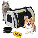 Airline Approved Soft Sided Pet Carrier for Small Medium Sized Dogs & Cats -- Luxury Design - Improved Comfort for You and Your Pet - Lightweight - Waterproof - Breathable - Trusted Travel Protection