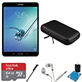 Samsung Galaxy Tab S2 8.0'' Wi-Fi Tablet (Black/32GB) 64GB Card Bundle includes Galaxy Tab, 64GB MicroSDXC Memory Card, Stylus Pen, Noise Isolation Headphones, 8-Inch Hard EVA Case and Cleaning Kit